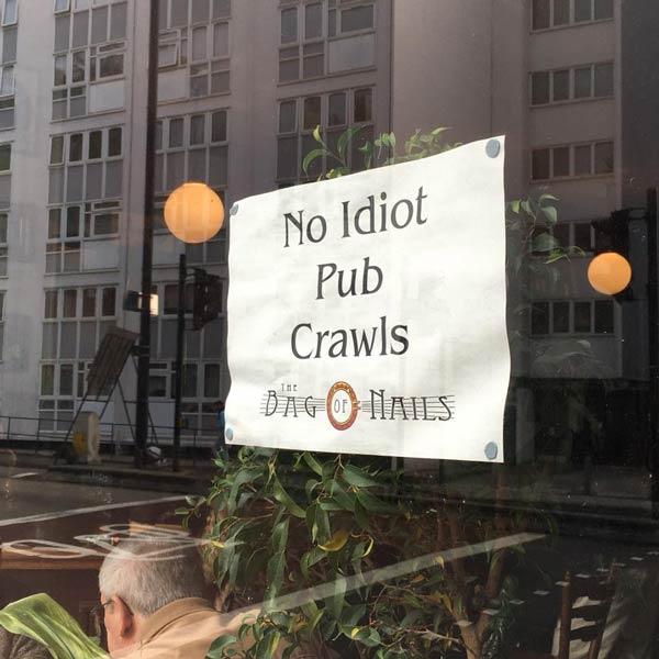 bag of nails pub crawls