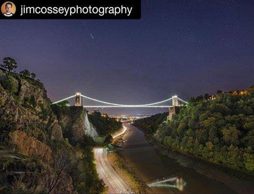 Clifton Suspension Bridge shooting star