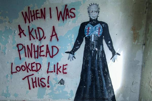 when i was a kid a pinhead looked like this grafitti