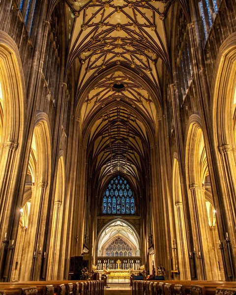 inside st mary redcliffe church