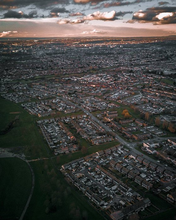 hengrove from above