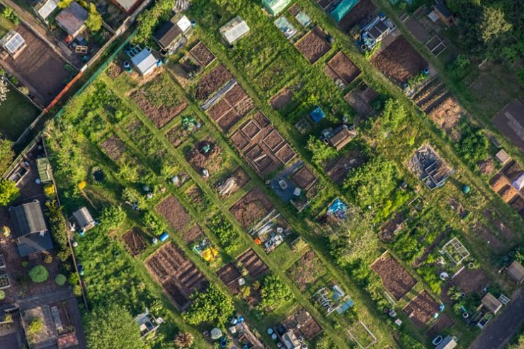 bristol allotment from above