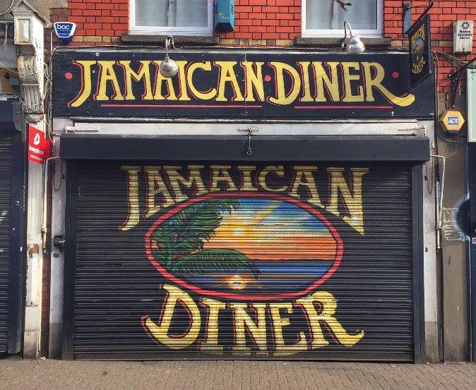 jamican diner street art