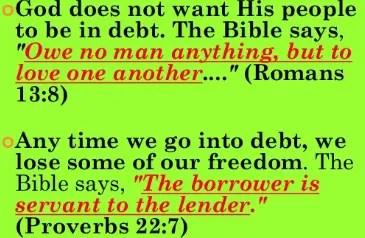 Bible Verse About Debt Owed