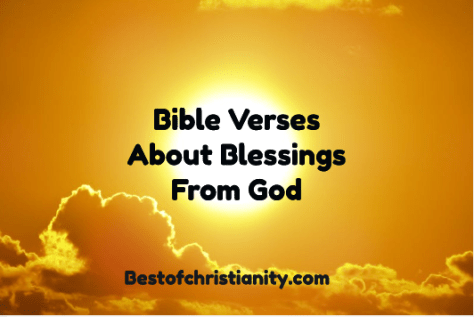 Bible Verses About Blessings From God