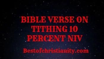 Bible Verses On Tithing 10 Percent NIV