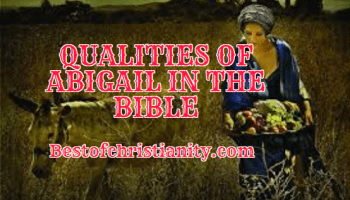 Qualities Of Abigail In The Bible