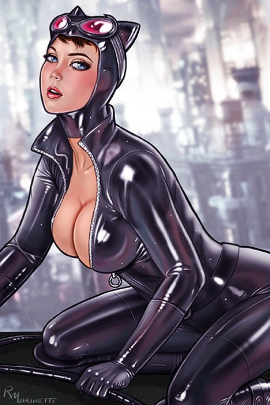 Catwoman hot cleavage