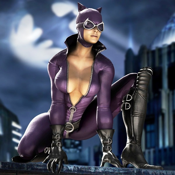 Catwoman sexy cleavage