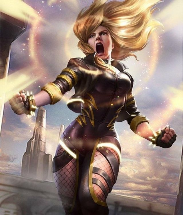 Black Canary Angry