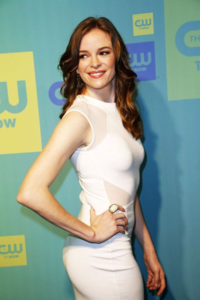 Danielle Panabaker White Dress