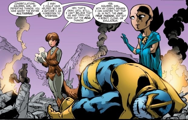 Squirrel girl defeated Thanos