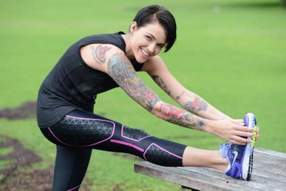 Ruby Rose on Exercise