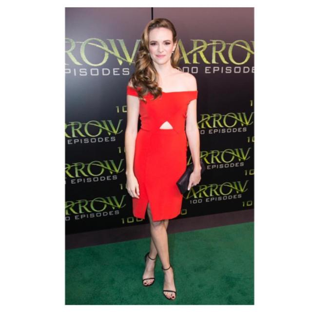Danielle Panabaker Hot in Red