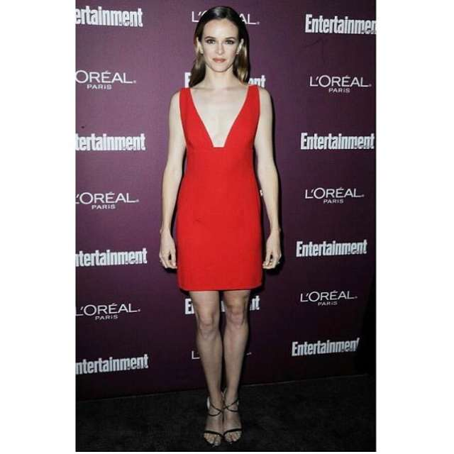Danielle Panabaker in Red Dress