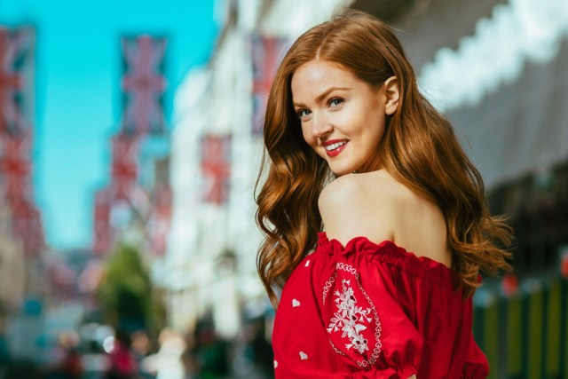 Maggie Geha Hot in Red