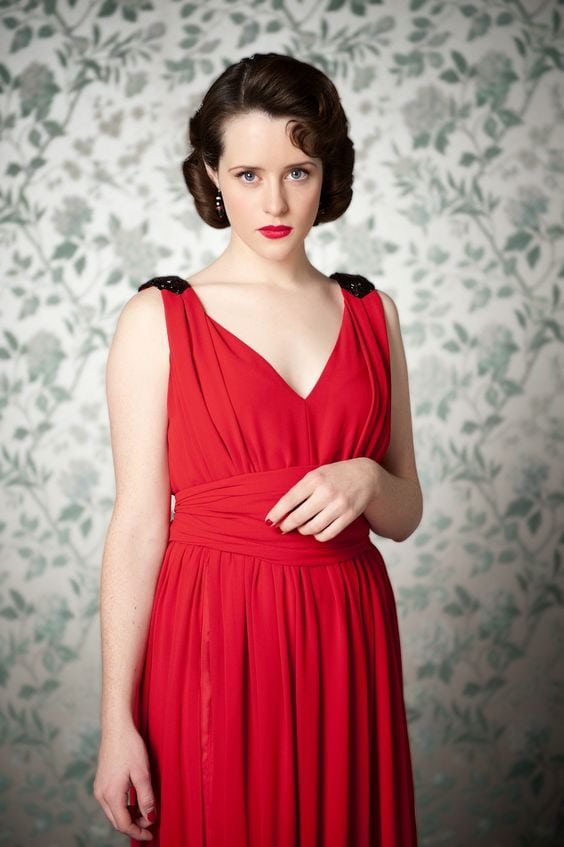 Claire Foy in Red Dress