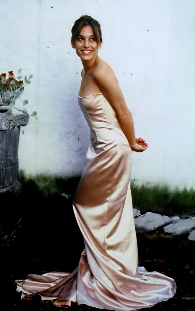 Amy Jo Johnson Sexy Dress