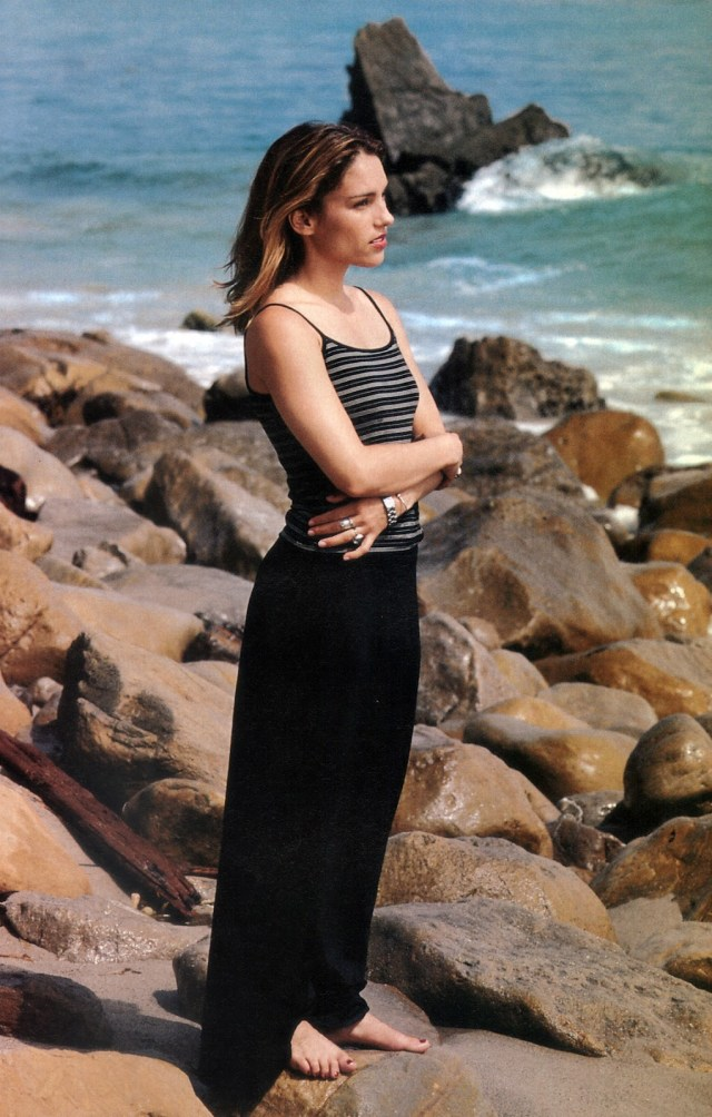 Amy Jo Johnson beach