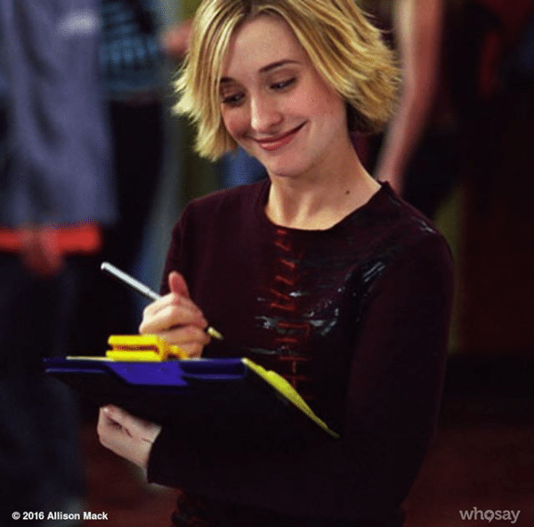 allison mack blonde hair