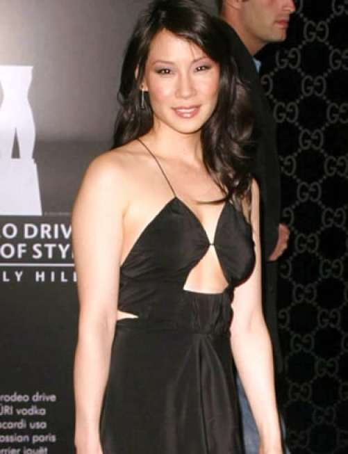 lucy liu hot dress