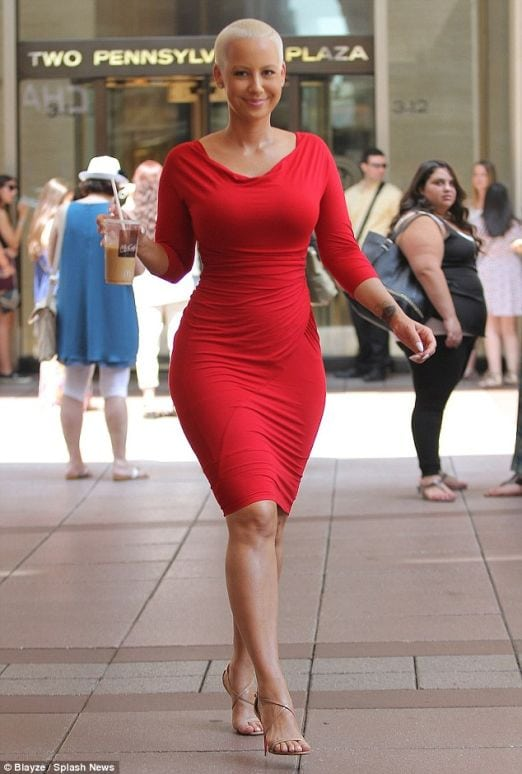 Amber Rose Hot in Red