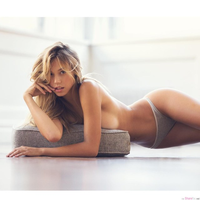 Alexis Ren with Pillow