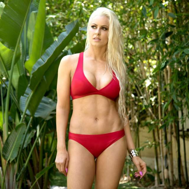 Maryse Ouellet in Red Bikini