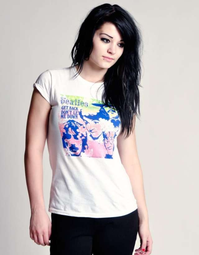 Paige Sexy in White T-Shirt
