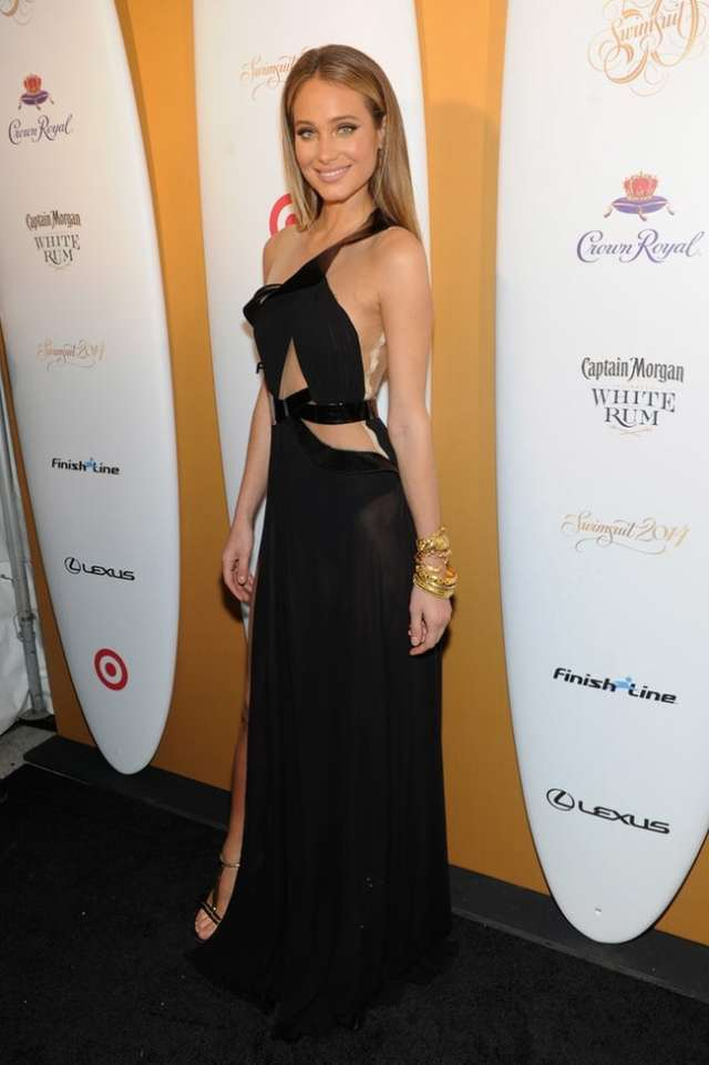 Hannah Davis Hot in Black
