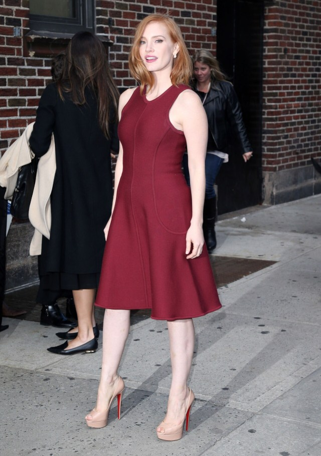 Jessica Chastain Red Dress