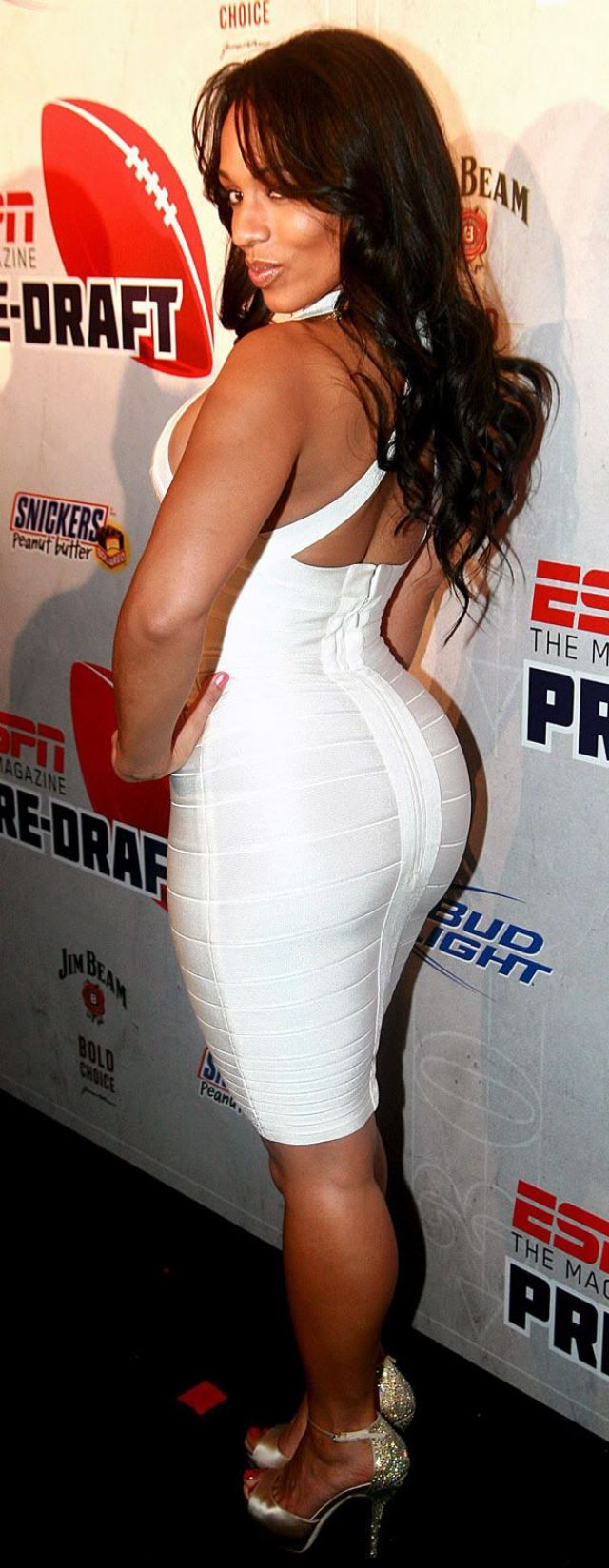 Melyssa Ford Booty in White Dress
