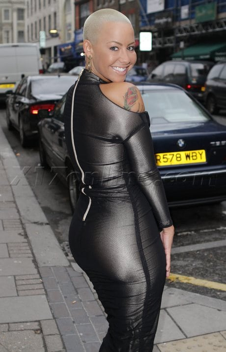 amber rose black dress