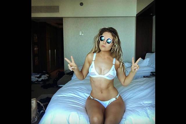 Perrie Edwards on Bed