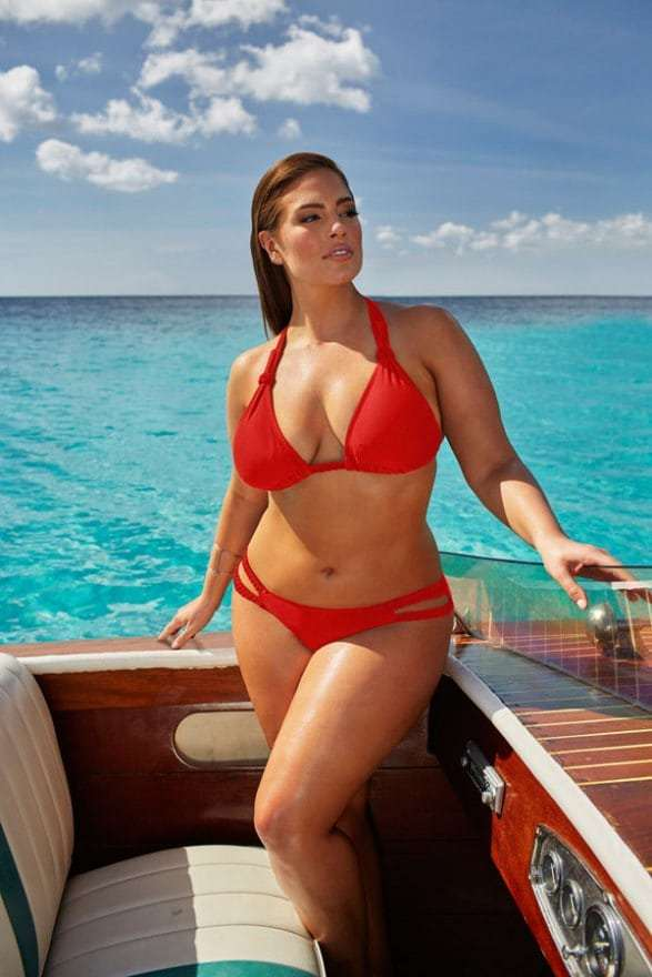 Ashley Graham Hot in Red Bikini