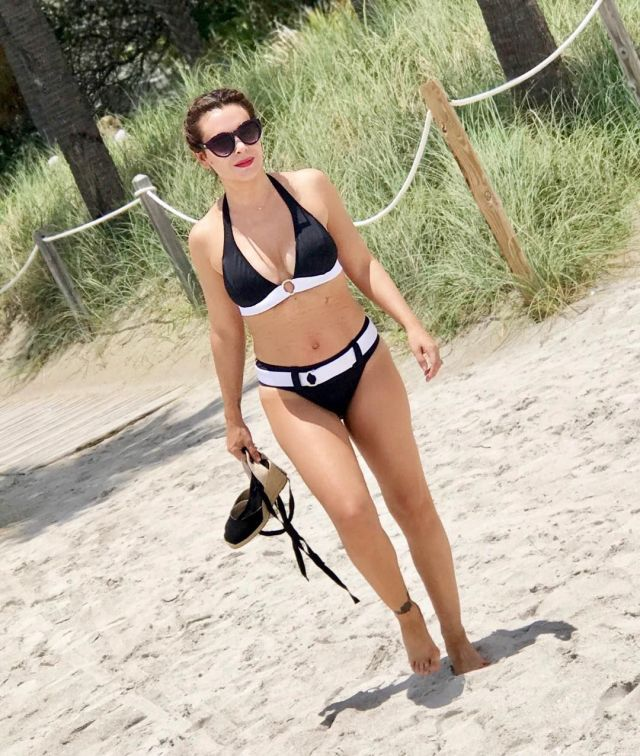Alyssa Milano on Beach