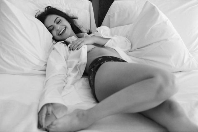 Camila Mendes on Bed