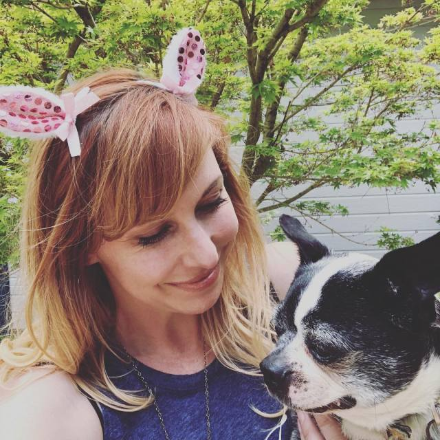 Kari Byron with Dog
