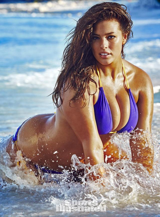Ashley Graham on Beach