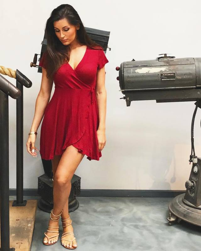 Trace Lysette Hot in Red