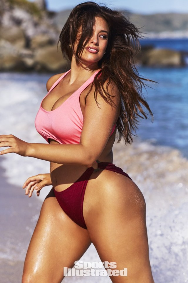 Ashley Graham in Pink Bikini