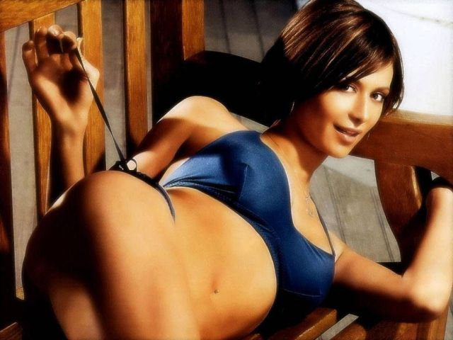 Catherine Bell on Bed