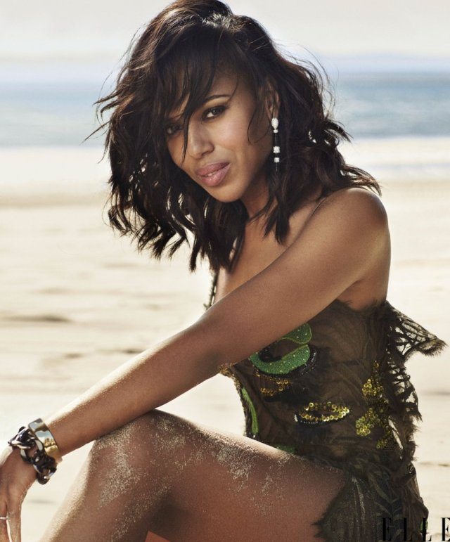 Kerry Washington on Beach