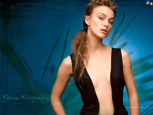 Keira Knightley sexy cleavage