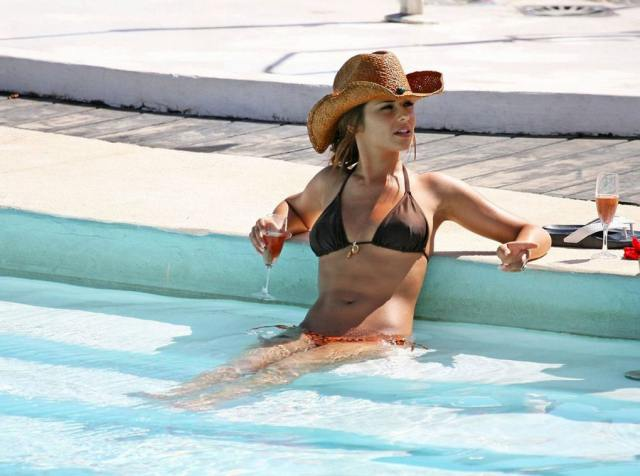 cheryl cole in the swimming pool