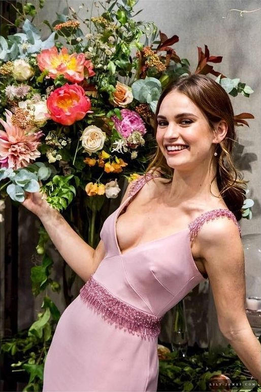 lily james sexy cleavage