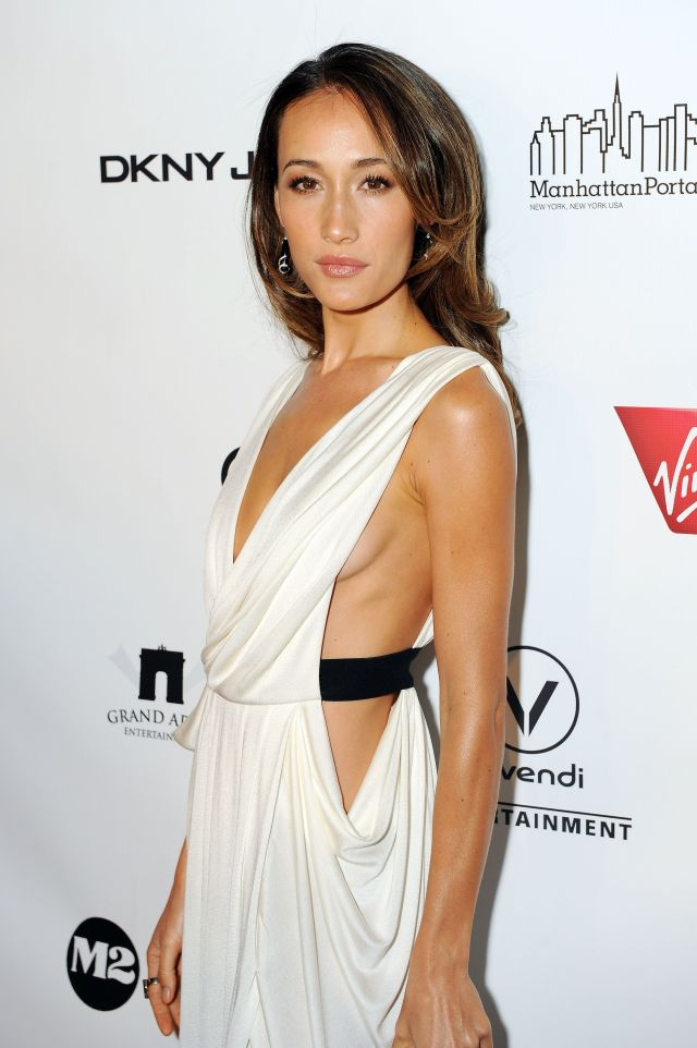maggie q sexy dress