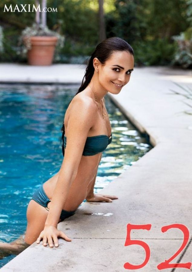 Lily Collins on Swimming Pool