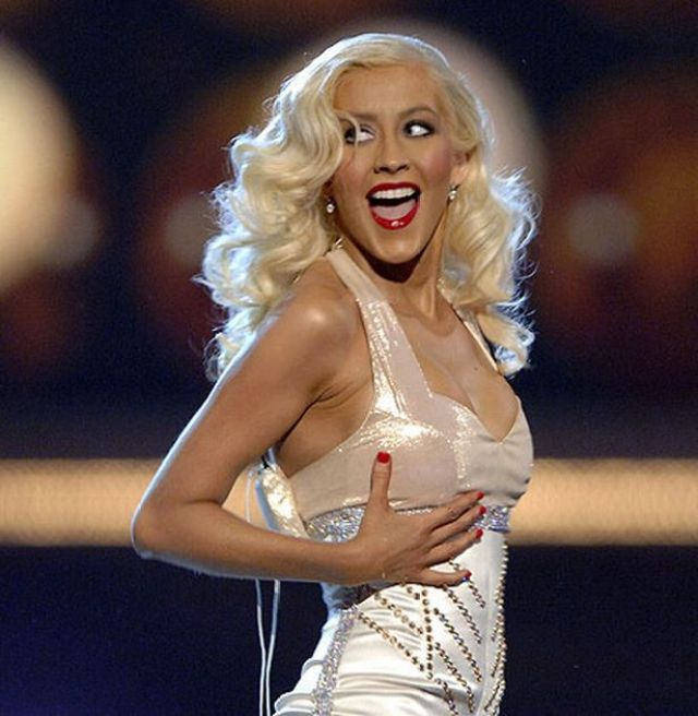 christina aguilera during the performance