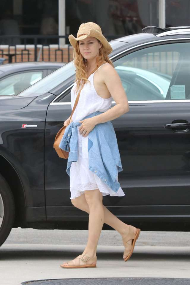 Amy Adams sexy in white